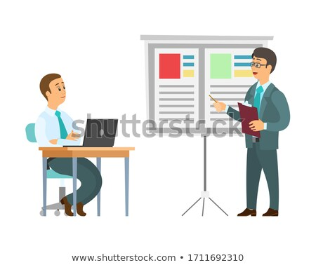 Presenter at Seminar, Master Class from Boss Work Stock photo © robuart