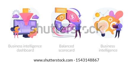 Balanced scorecard vector concept metaphor Stock photo © RAStudio