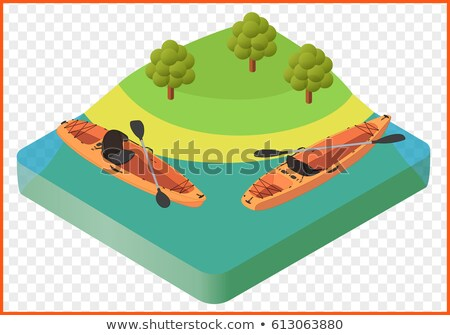 Barco isométrica ícone vetor assinar cor Foto stock © pikepicture