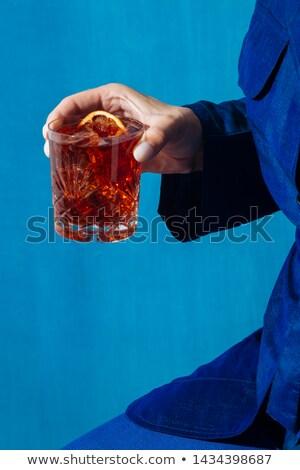 Glass of Negroni Stock photo © Alex9500