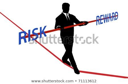 Işadamı risk ödüllendirmek iş adam çalışmak Stok fotoğraf © Elnur