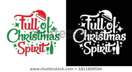 Karácsony szellem hó fehér ajándék ünnep Stock fotó © silent47