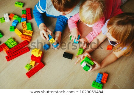 Toddler playing at construction Stock photo © photography33