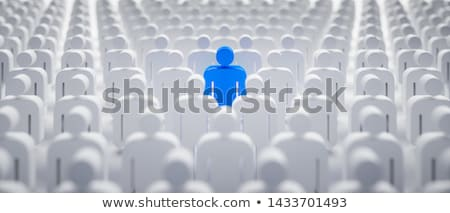 persona · folla · 3D · reso · immagine · squadra - foto d'archivio © creisinger