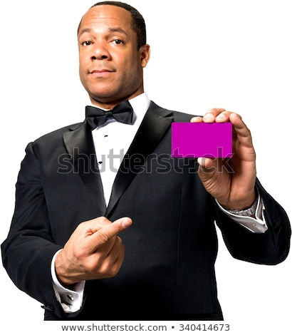 man pointing at business card stock photo © photography33