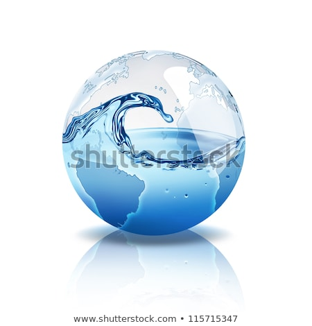 Stock photo: Earth in water