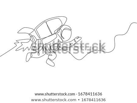 vetor · homem · voador · alegre · espaço · retrato - foto stock © cteconsulting