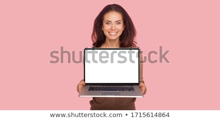 Beautiful Woman Holding Laptop stock photo © Maridav