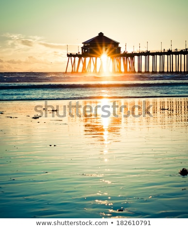 桟橋 海 ハワイ 空 水 木材 ストックフォト © EllenSmile