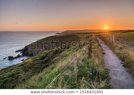 beroemd · rock · strand · verticaal · hemel · landschap - stockfoto © arenacreative