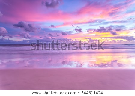 beautiful pink sunset Stock photo © chesterf