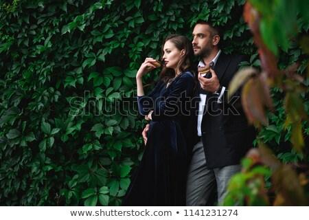 Divat pár férfi mögött másfelé néz fiatal Stock fotó © feedough