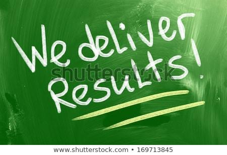 We deliver Results Chalk Illustration Stock photo © kbuntu