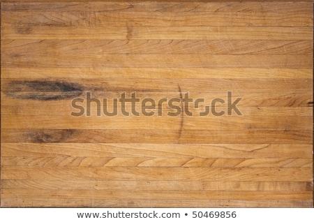 Elnyűtt hentes vág vágódeszka tapsolás fa deszka Stock fotó © stevanovicigor