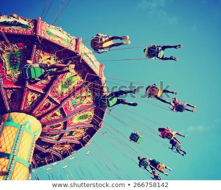 Carnaval diversión jóvenes acero jugar amarillo Foto stock © aspenrock