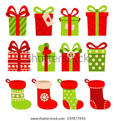 Рождества подарок носок изолированный белый цвета Сток-фото © ruzanna