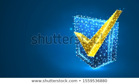 Polygon Checkmark Icon Stock photo © cteconsulting