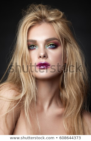 Jeunes insolite maquillage blond femme Photo stock © konradbak