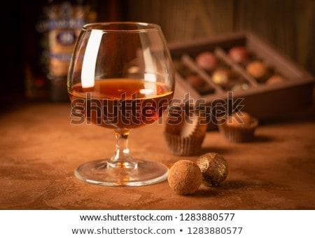 Csendélet tölgy asztal öreg cserépedények gyümölcs Stock fotó © Hofmeester