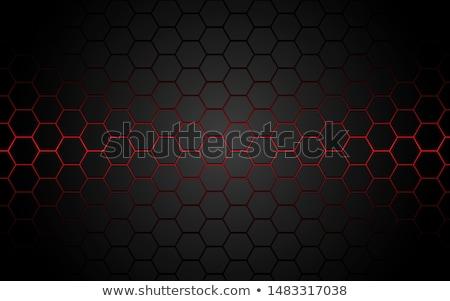 Fekete méhsejt szürke hatszög absztrakt textúra Stock fotó © MiroNovak