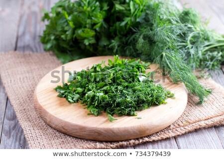 haché · ail · couteau · alimentaire · bois - photo stock © antonio-s