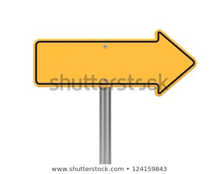 Respostas placa sinalizadora amarelo estrada azul postar Foto stock © fuzzbones0