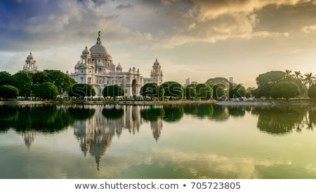 victoria memorial lake reflection in sunset stock photo © szefei