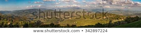 панорамный · холмы · Италия · мнение · деревне · небе - Сток-фото © Joningall