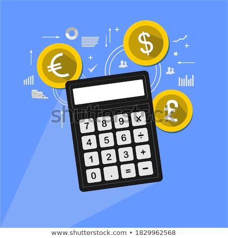 Font felirat citromsárga vektor ikon terv pénzügy Stock fotó © rizwanali3d