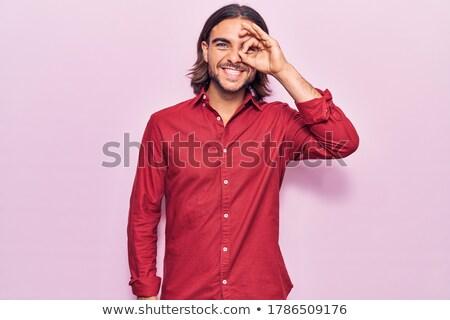 человека · знак · вызывать · галстук · человек - Сток-фото © Patramansky