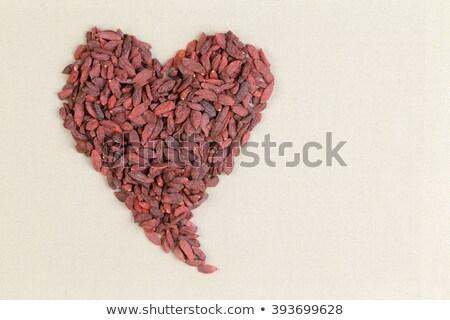 gedroogd · bessen · kom · witte · vruchten · gezondheid - stockfoto © ozgur