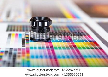 色 管理 キーを押します グラフ ガラス モニター ストックフォト © seen0001