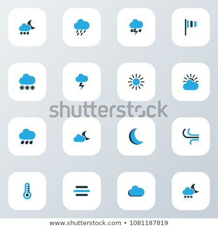 Drizzling rain at night with hazy blue sky. Stock photo © yopixart