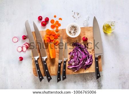 кухне ножом стали изолированный белый работу Сток-фото © coprid