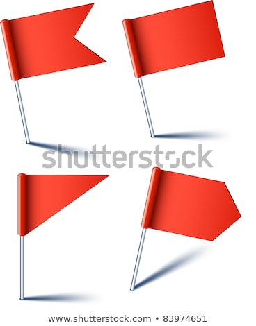 Znacznik banderą Pokaż biały papieru podpisania Zdjęcia stock © Ecelop