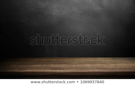 Rustik ahşap masa tahta uzay metin Stok fotoğraf © andreasberheide