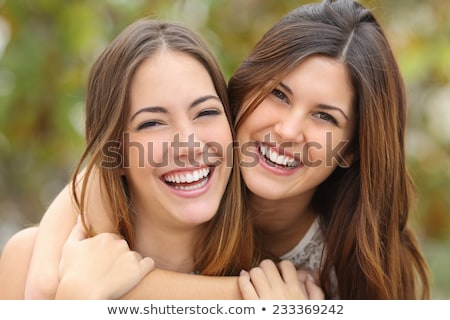 Retrato dois sorridente mulheres molhado cabelo Foto stock © acidgrey