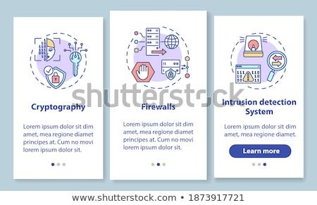 Tűzfal app interfész sablon programozós fűrész Stock fotó © RAStudio