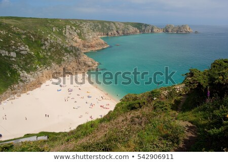 Porthcurno beach in the summertime, Cornwall, UK. Stock photo © latent