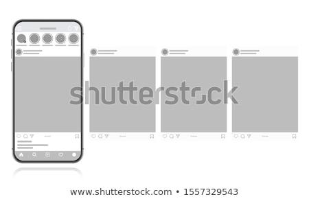 sosyal · medya · pembe · vektör · düğme · ikon · dizayn - stok fotoğraf © decorwithme