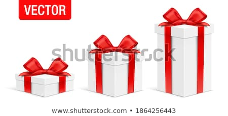 Gift Boxes Different Sizes with Ribbons Vector ストックフォト © robuart
