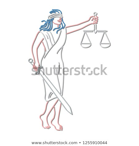 Lady Justice Holding Sword and Balance Neon Sign Stock photo © patrimonio