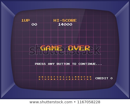 game machine and screen of old video game vector stock photo © robuart