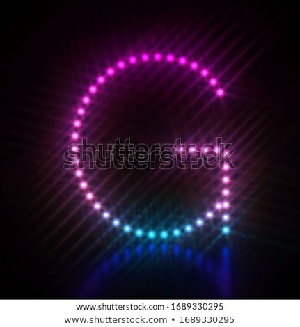 Pink blue dot light font Letter G 3D Stock photo © djmilic