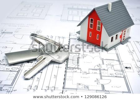 sleutels · blauwdruk · home · blauwdrukken · business · papier - stockfoto © deyangeorgiev
