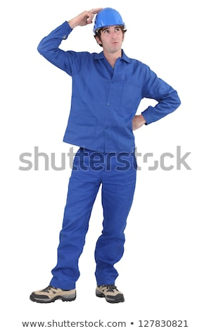 Tradesman with a dreamy look on his face Stock photo © photography33