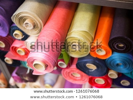 horizontal image of a woman with roll tube Stock photo © photography33