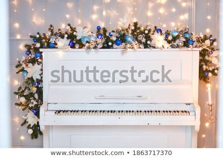 Lights around the piano Stock photo © timbrk