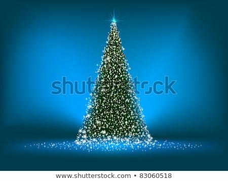 Foto stock: Abstrato · verde · árvore · de · natal · azul · eps · vetor