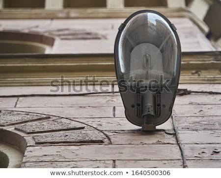 lámpa · elhagyatott · ház · vízszintes · fotó · ajtó - stock fotó © zittto